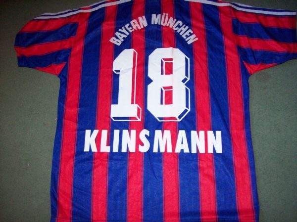 1995 1997 Bayern Munich Klinsmann Home Football Shirt Adults XL